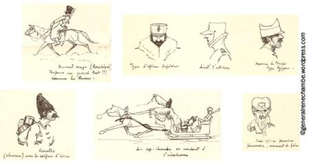 René Chambe - Lettre à Jo du 1er mars 1917 - croquis