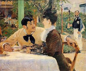 Ed Manet - Cabaret du Père Lathuile 1879 - Musée des bx-arts de Tournai
