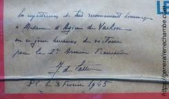 René Chambe - de Lattre de Tassigny à Colmar Affiche 5 février 1945 - détail