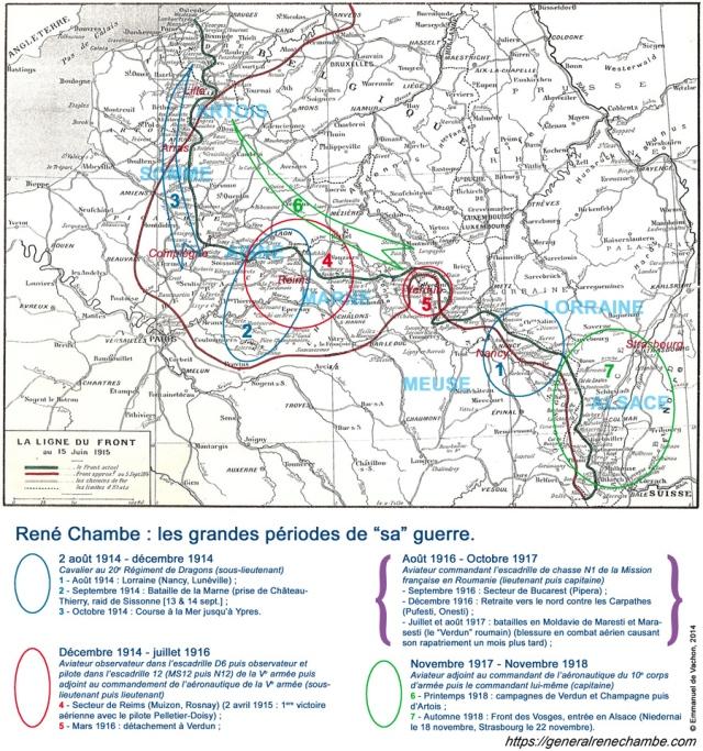 René Chambe - carte Sa guerre 14-18