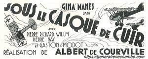 René Chambe - film sous le casque de cuir affiche 2