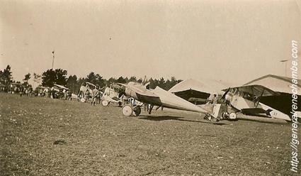 René Chambe - l'escadrille prête au départ 31 mars 1916