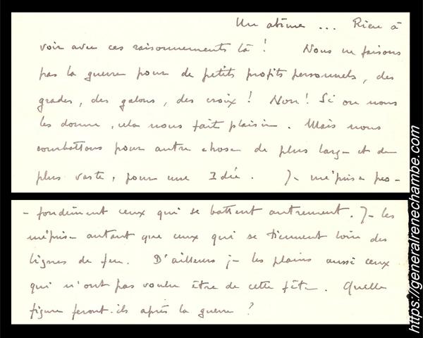 René Chambe - lettre à son frère du 12 mars 1915