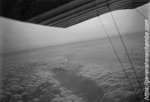 René Chambe - MS 12 - A bord d'un Morane-Saulnier Parasol - juin 1915 5h matin Laon