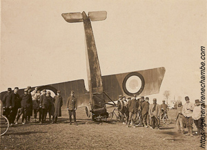 René Chambe - MS 12 Le Maurane Saulnier en pylône le 2 avril 1915