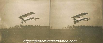 René Chambe - N 12 - Au décollage dans son Bébé Nieuport c1916