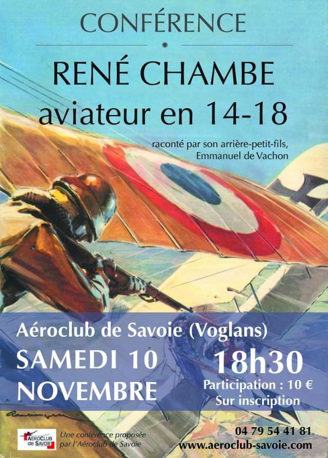 René Chambe - conférence 2018 Aviateur 14-18
