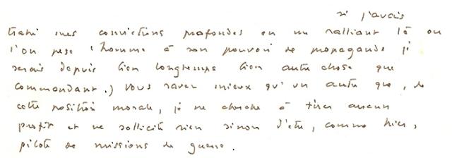 René Chambe - lettre de Saint-Exupéry extrait 2