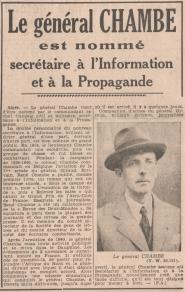 Rene Chambe - 21 fev 1943 mini stre information de Giraud