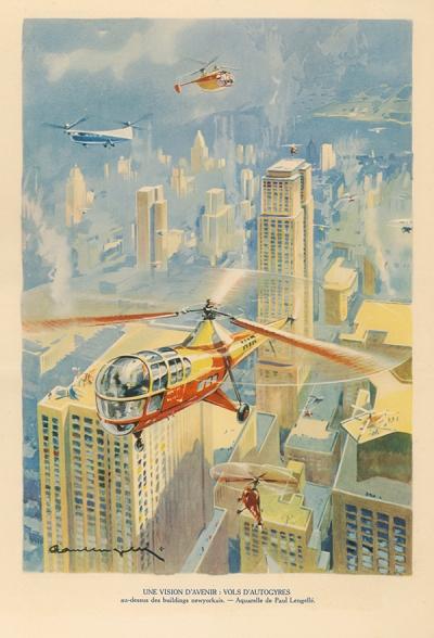René Chambe - Paul Lengellé - Autogyres - Histoire de l aviation 1949