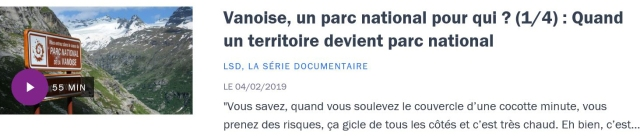 Vanoise 1-4 France Culture
