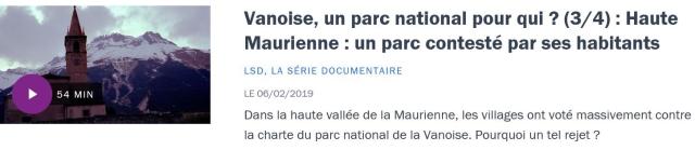 Vanoise 3-4 France Culture