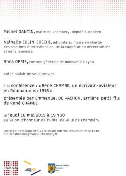 René Chambe - conférence Chambéry 2019 1