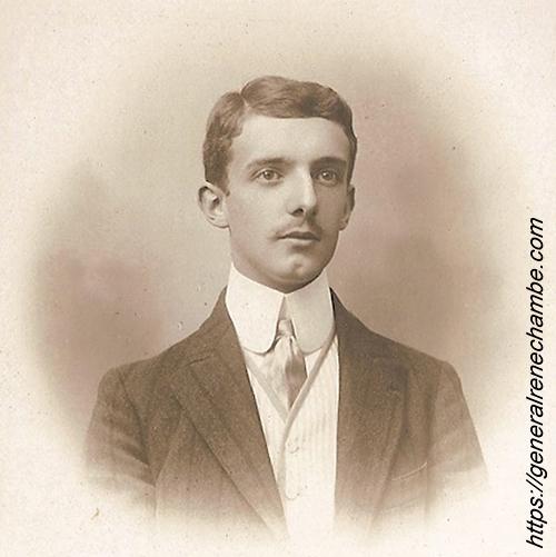 René Chambe - 19 ans en octobre 1908 avant engagement