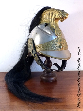 René Chambe - casque de Dragons cavalerie 20e régiment