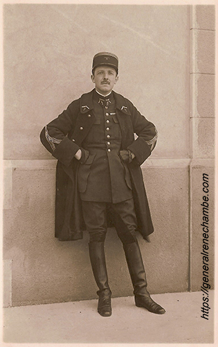 René Chambe - commandant de groupe c1929 Lyon Bron