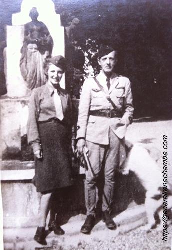 René Chambe - Grenoble 23 août 1944 sa fille cadette Jacqueline