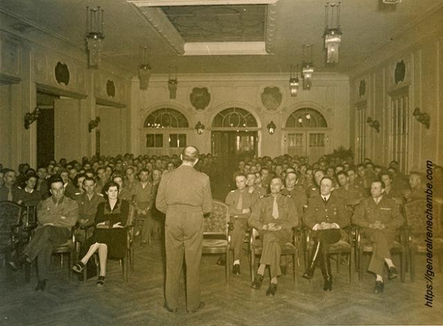 René Chambe - remise plaque GCLH de Lattre de T Lindau 30 mai 1945