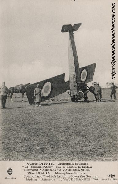 René Chambe - 5e victoire aérienne Fr 2avril1915